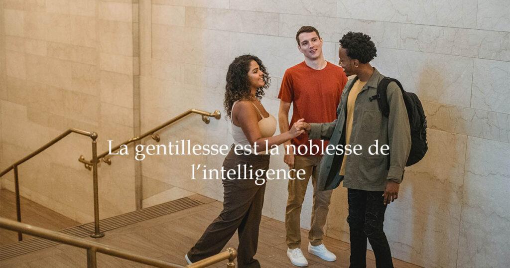 la gentillesse est la noblesse de l intelligence